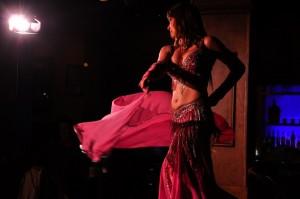 Dilara on set for The Belly Dance Studio TV spot